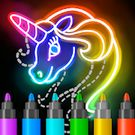 Download hack Learn to Draw Glow Cartoon for Android - MOD Unlocked