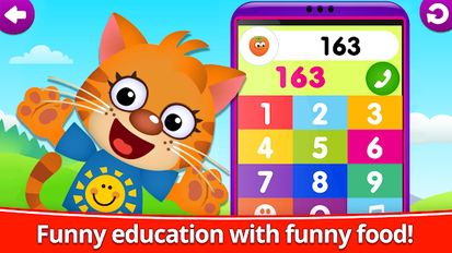 Download hack Funny Food 123! Kids Number Games for Toddlers for Android - MOD Unlimited money